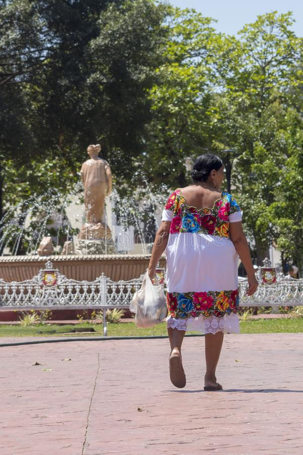 Майяские традиции овеществленные в незамужней женщине стоковое фото
