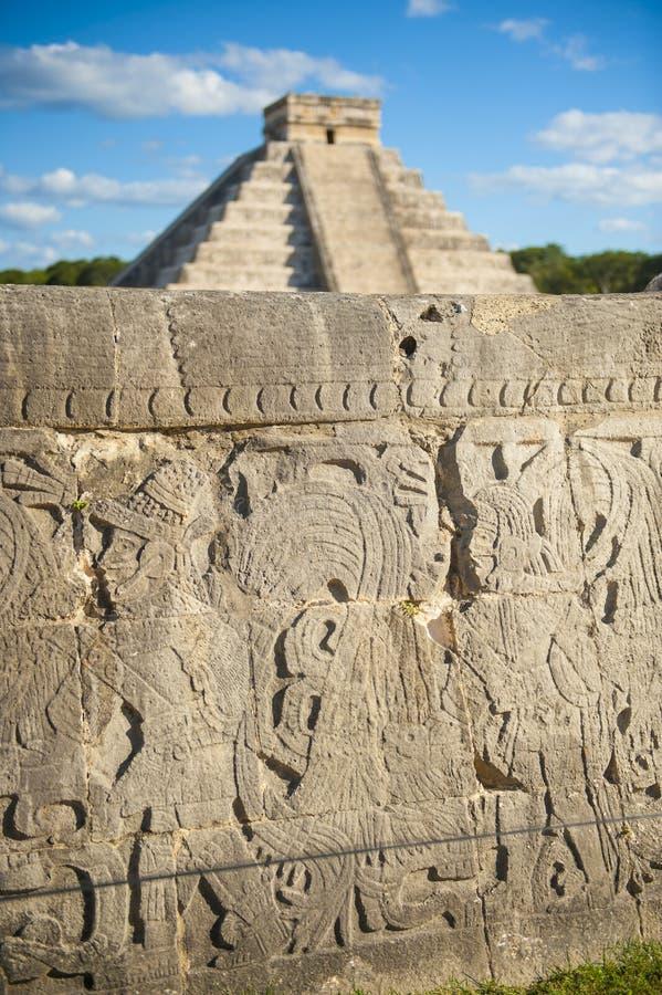 Майяский висок, Chichen Itza, Мексика стоковые изображения