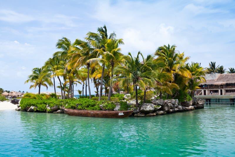 Майяский рай Ривьера стоковые фото