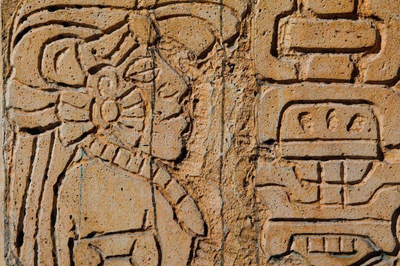 майяский ратник статуи стоковые изображения