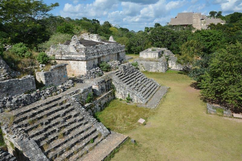 Майяское археологическое место Ek Balam (черного ягуара) окружило b стоковое изображение rf
