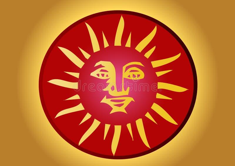 майяское солнце иллюстрация штока