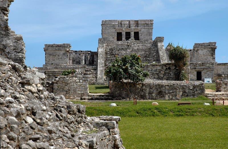 майяское tulum виска Мексики стоковое фото