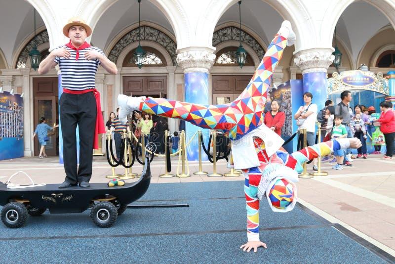 Download Макао: Венецианское Carnevale 2014 Редакционное Стоковое Фото - изображение насчитывающей цвет, смешно: 40591718