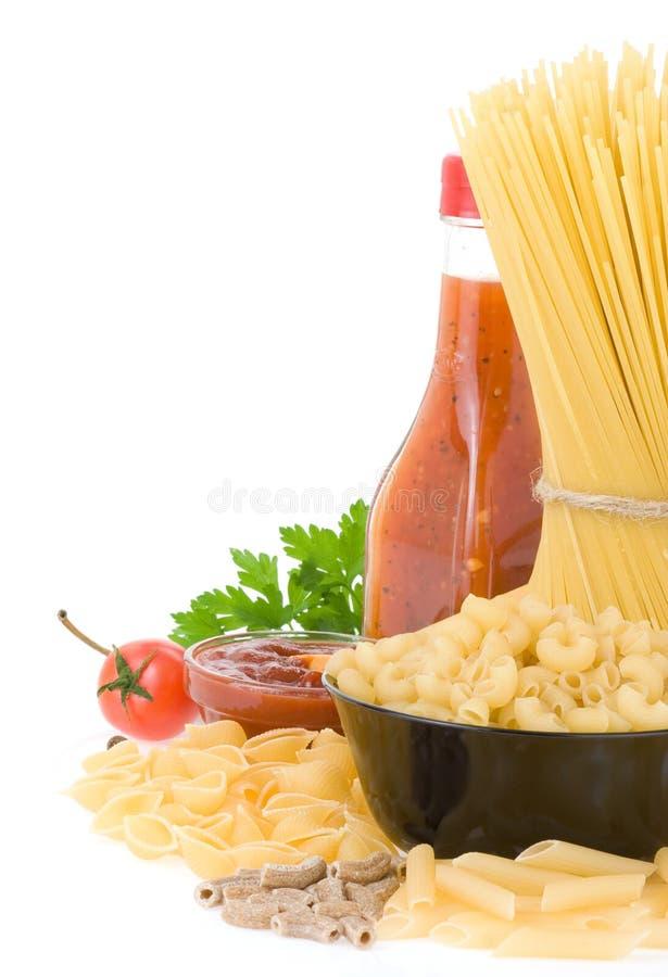макаронные изделия ингридиента еды сырцовые стоковые фотографии rf
