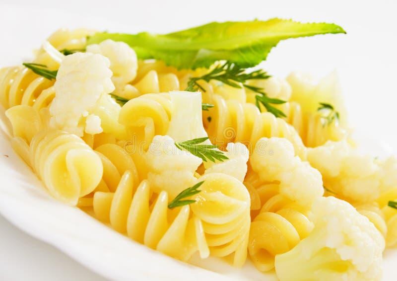 макаронные изделия итальянки cauliflower стоковые фото