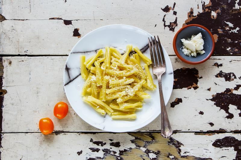 Макаронные изделия итальянки Vegeterian стоковое изображение
