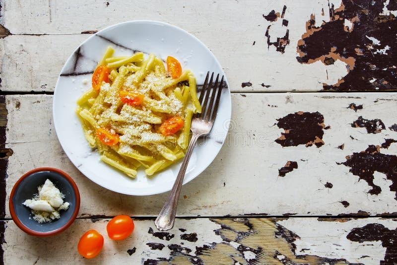 Макаронные изделия итальянки Vegeterian стоковое фото