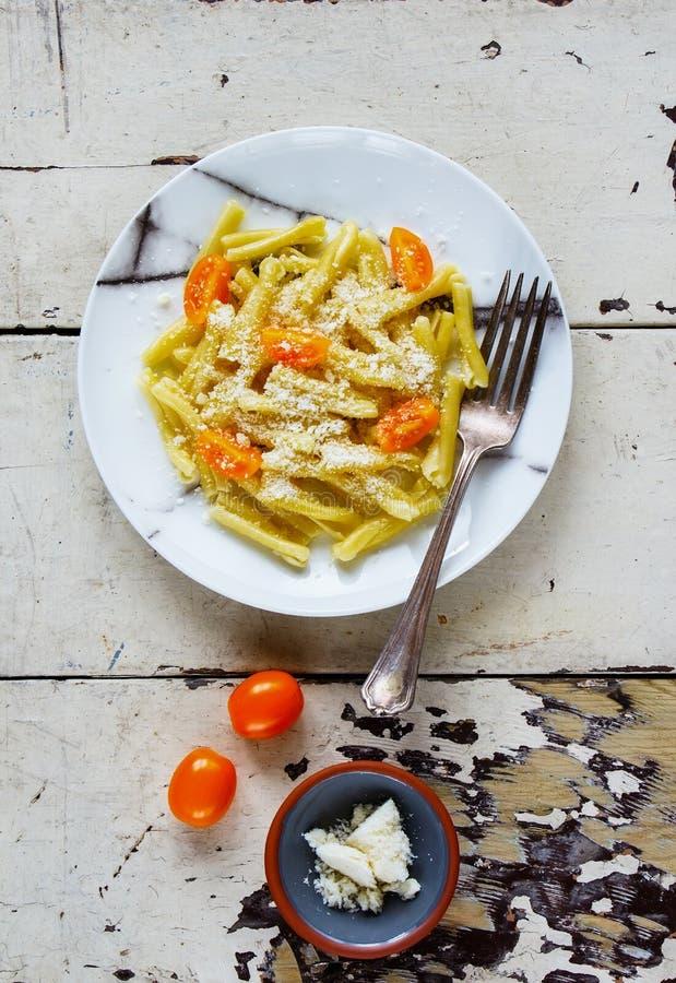 Макаронные изделия итальянки Vegeterian стоковые фото