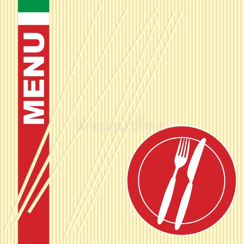 макаронные изделия меню карточки бесплатная иллюстрация
