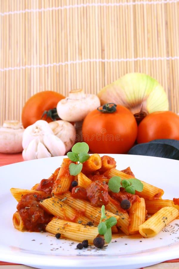 макаронные изделия обеда стоковое изображение rf