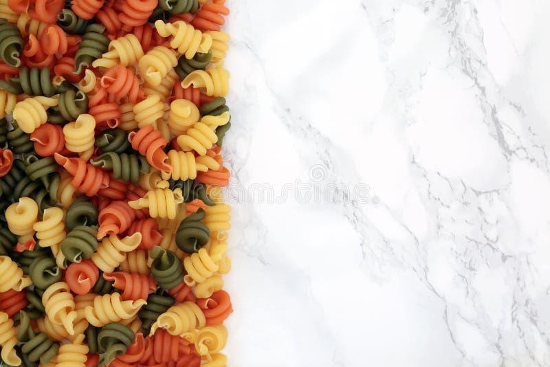 Макаронные изделия Trotolle Tricolour стоковое фото