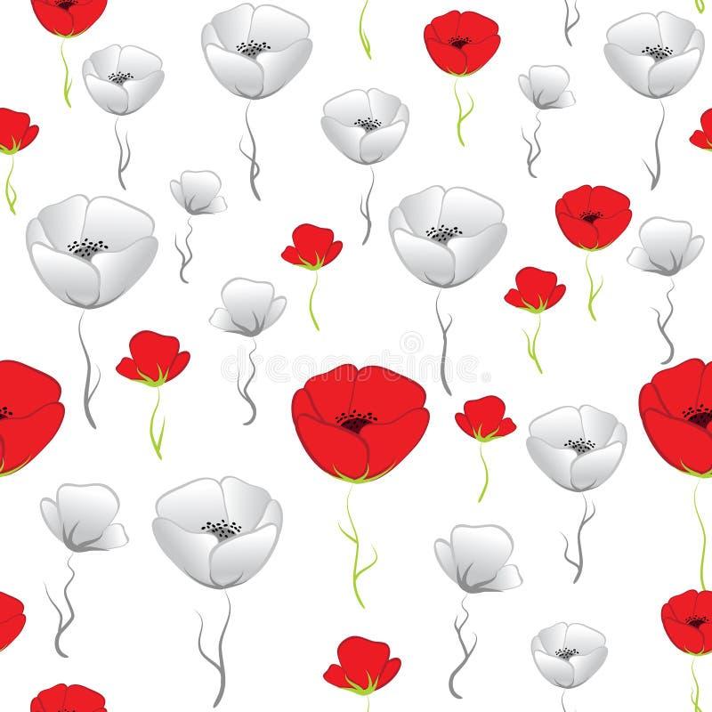 мака картины цветка конструкции граници предпосылки искусства обои сбора винограда вектора милого женственного филигранного флори бесплатная иллюстрация