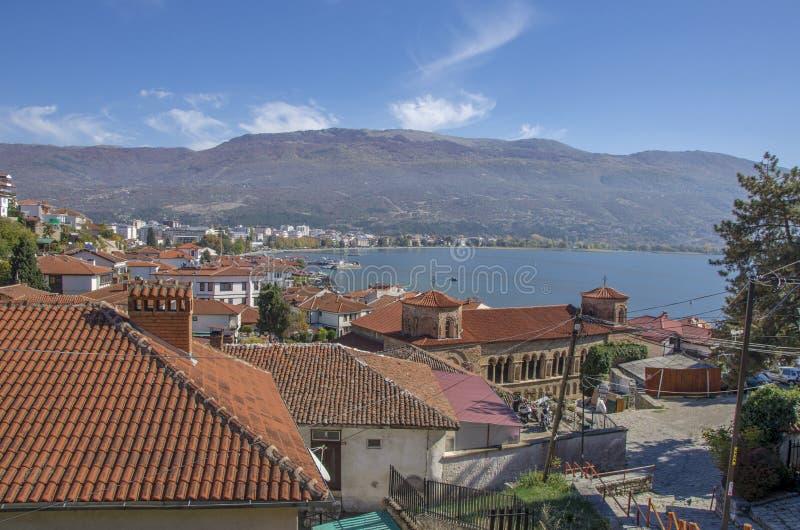 Македония, часть †Ohrid «старая историческая городка стоковые изображения rf