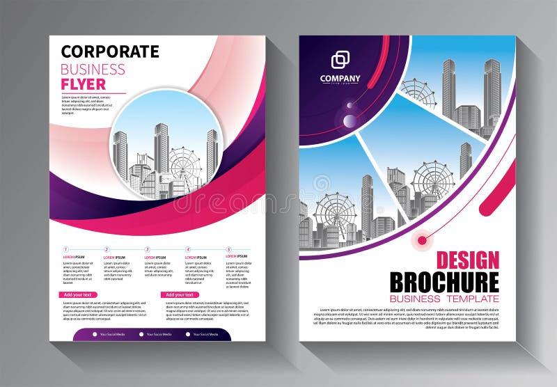 макет брошюры, годовой отчет о дизайне обложки, журнал, рекламный лист или справочная информация по буклетам стоковые фотографии rf