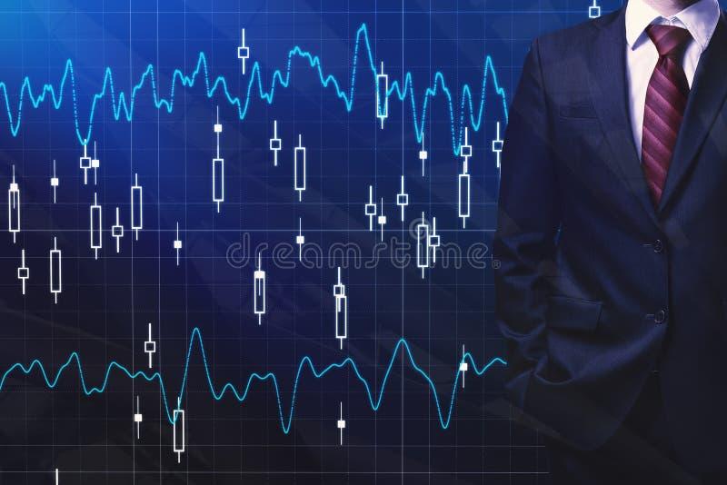 Маклер и концепция экономики стоковые изображения rf
