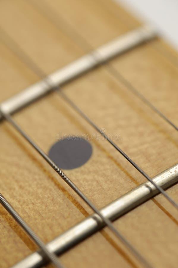макрос гитары fret стоковые изображения rf
