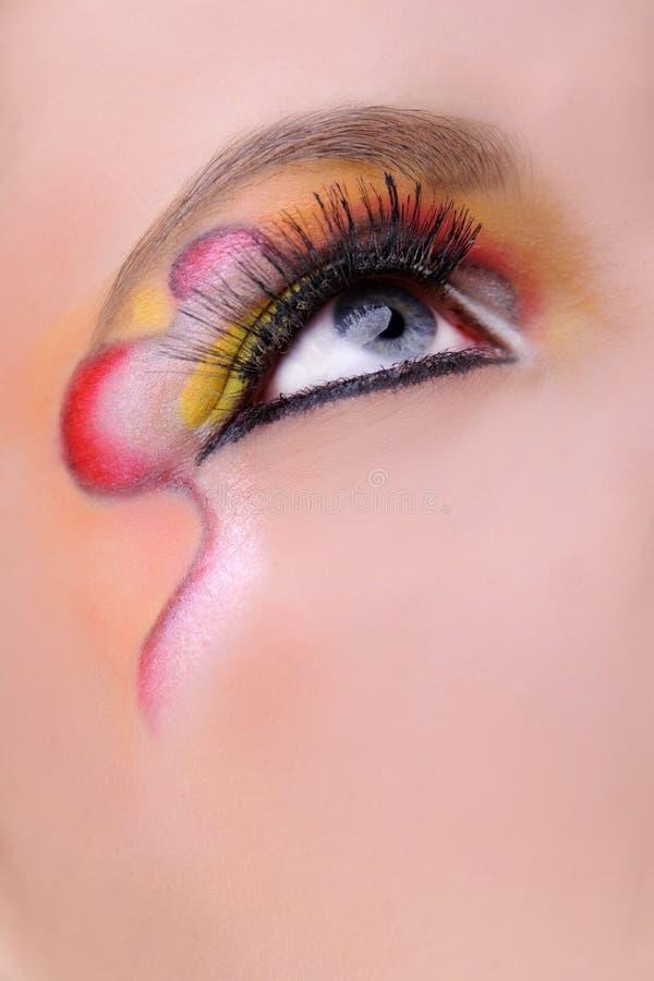 макрос глаза составляет стоковое фото