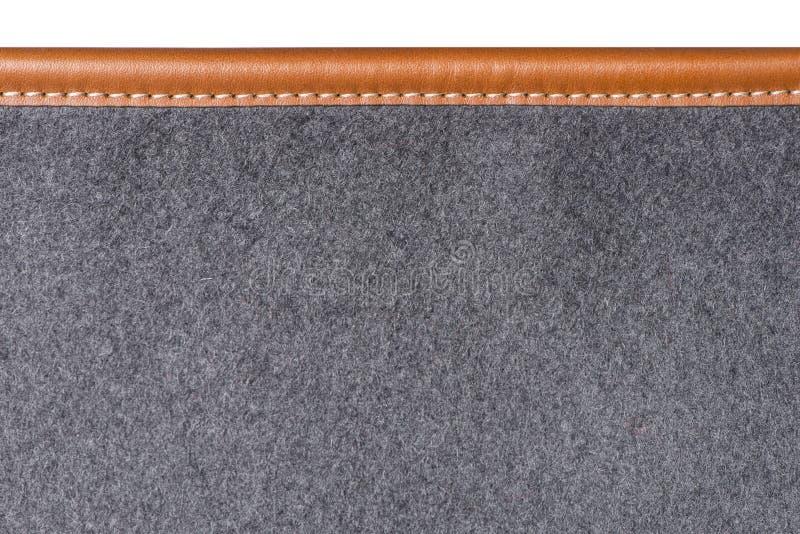 Макрос зашитой кожаной вязки половика стоковое изображение