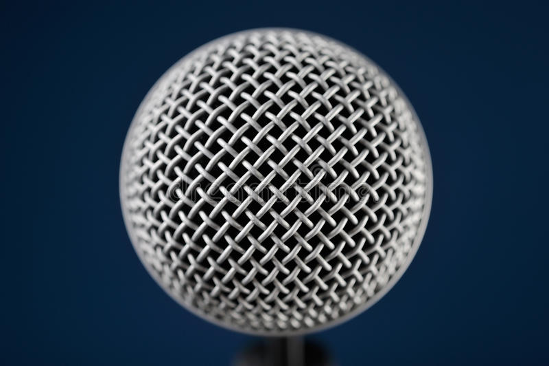 Макрос микрофона стоковое изображение