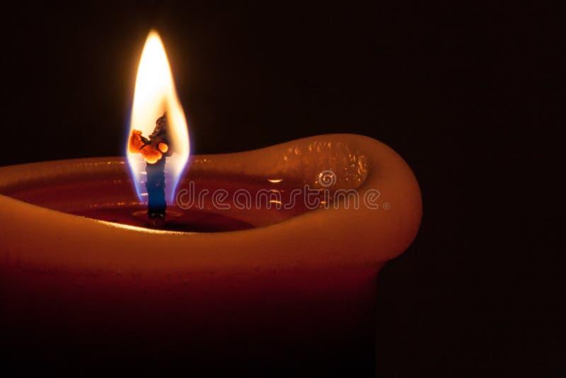 Макрос пламени свечи стоковая фотография rf