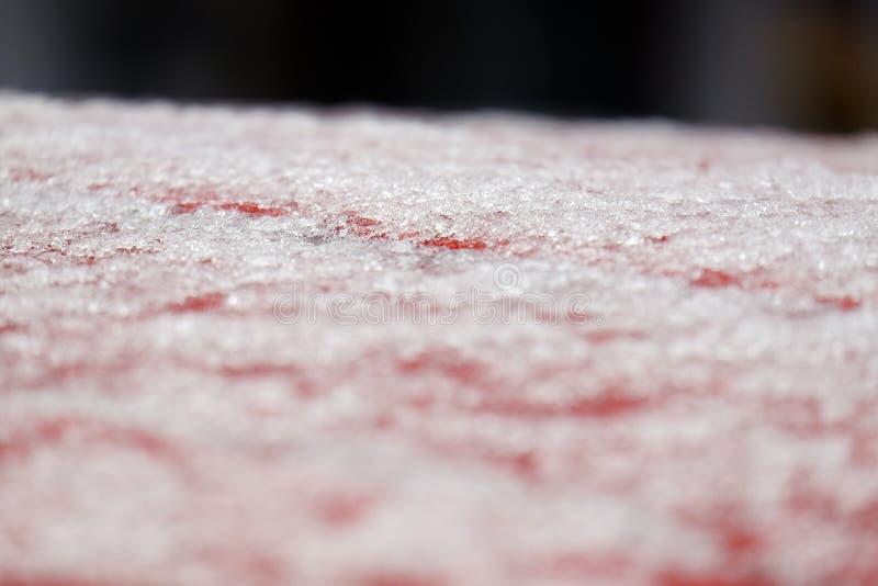 Макрос снятый снега стоковое изображение rf