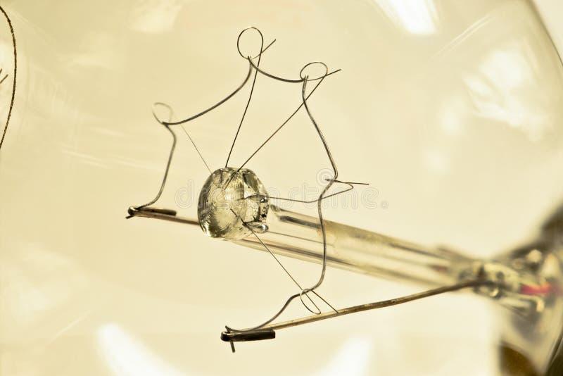 Макрос спиральной электрической лампочки стоковые изображения