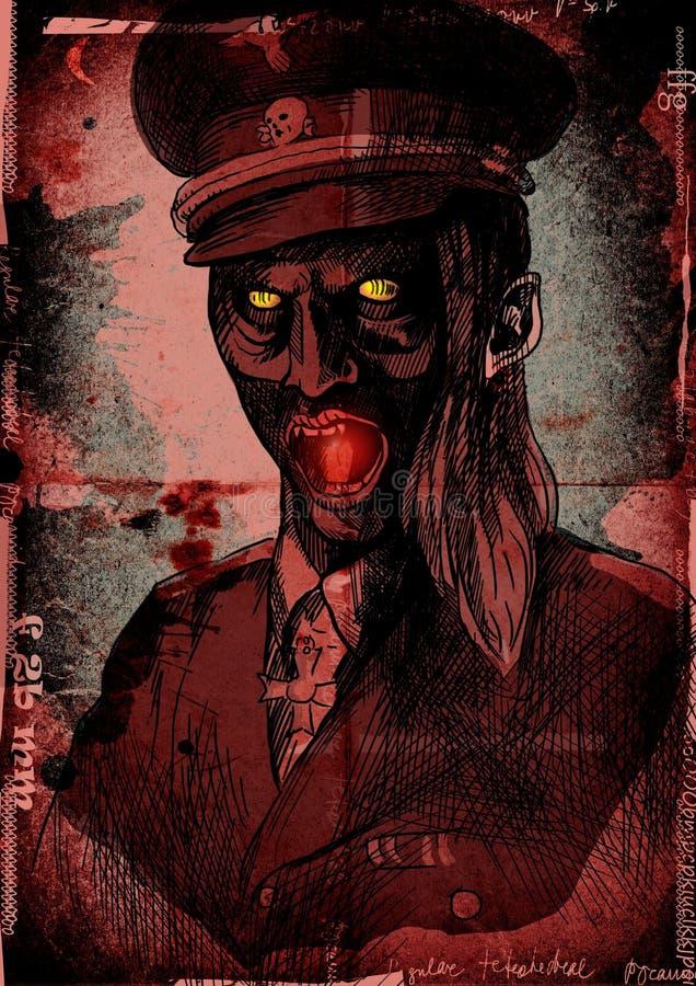 Темный офицер иллюстрация вектора