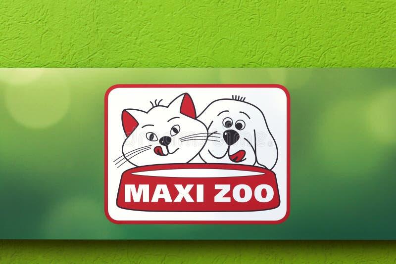 Макси логотип зоопарка на стене стоковое фото