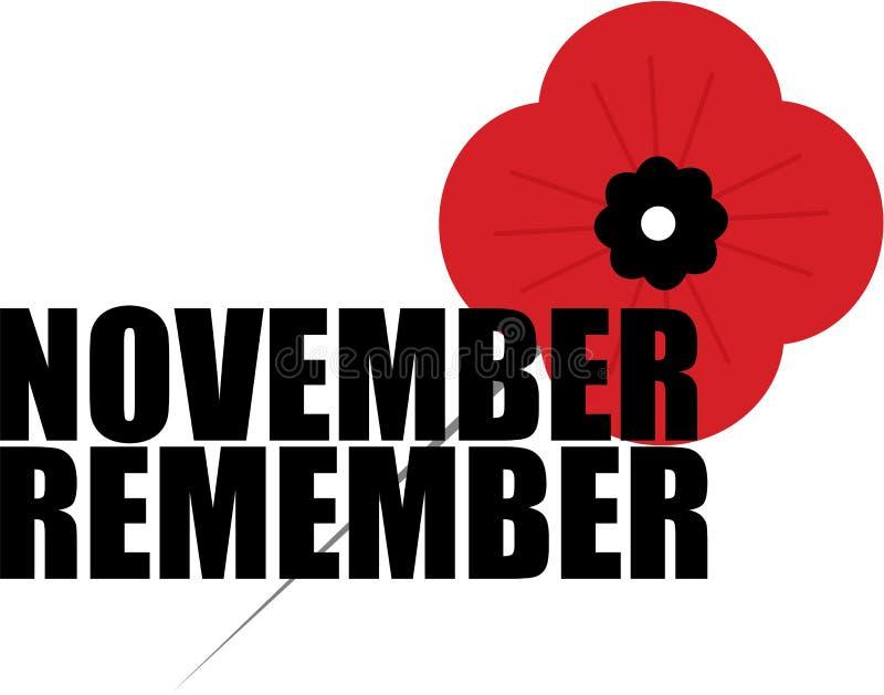 Мак день памяти погибших в первую и вторую мировые войны стоковая фотография rf