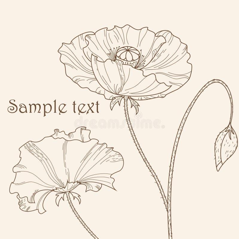 мак цветка иллюстрация вектора
