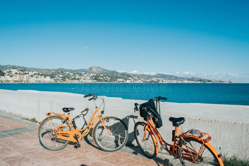 Малага Испания сняла во время studytrip стоковые изображения