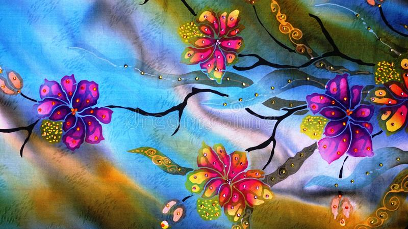 малайзиец батика иллюстрация штока