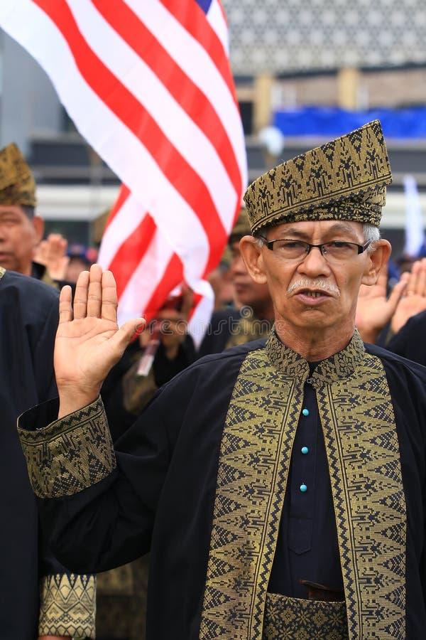 малайзийские ветераны pledge стоковое фото