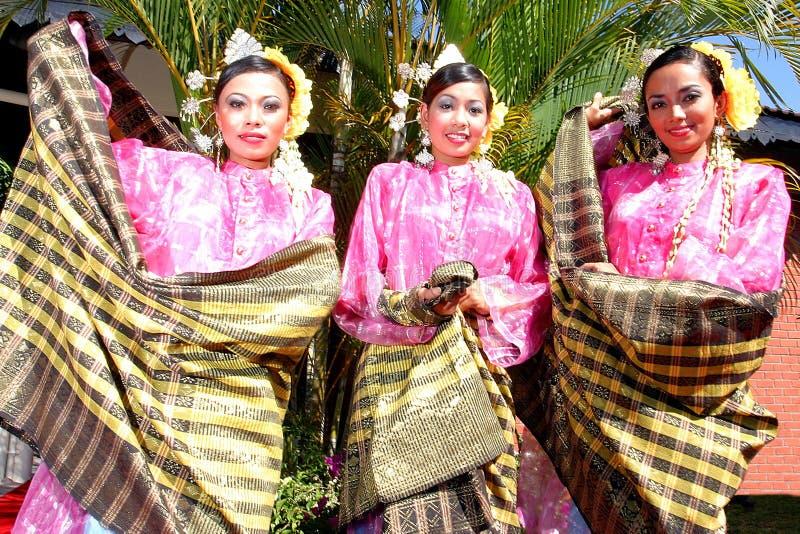 Малайзийские культурные обмундирования стоковые изображения rf