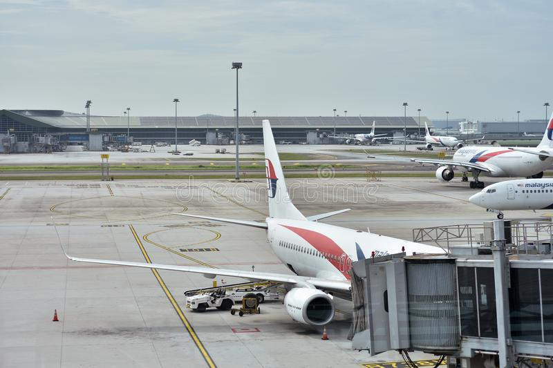 Малайзийское plqne авиакомпаний стоковые изображения rf