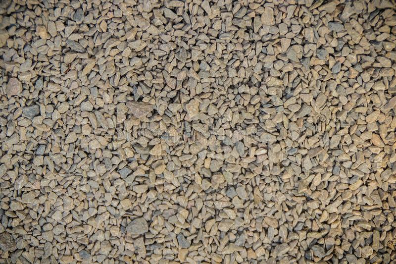 Малая каменная текстура предпосылки гравия Текстура гравия для предпосылки Задавленные камни на железной дороге для текстуры и пр стоковая фотография rf