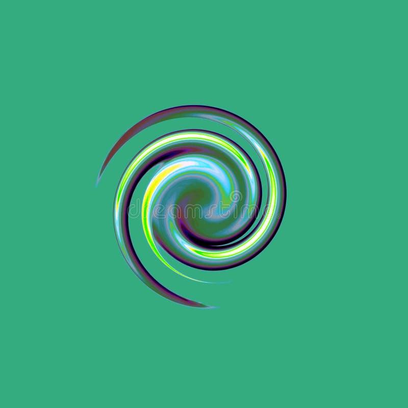 Малая, специальная и привлекательная спираль иллюстрация штока