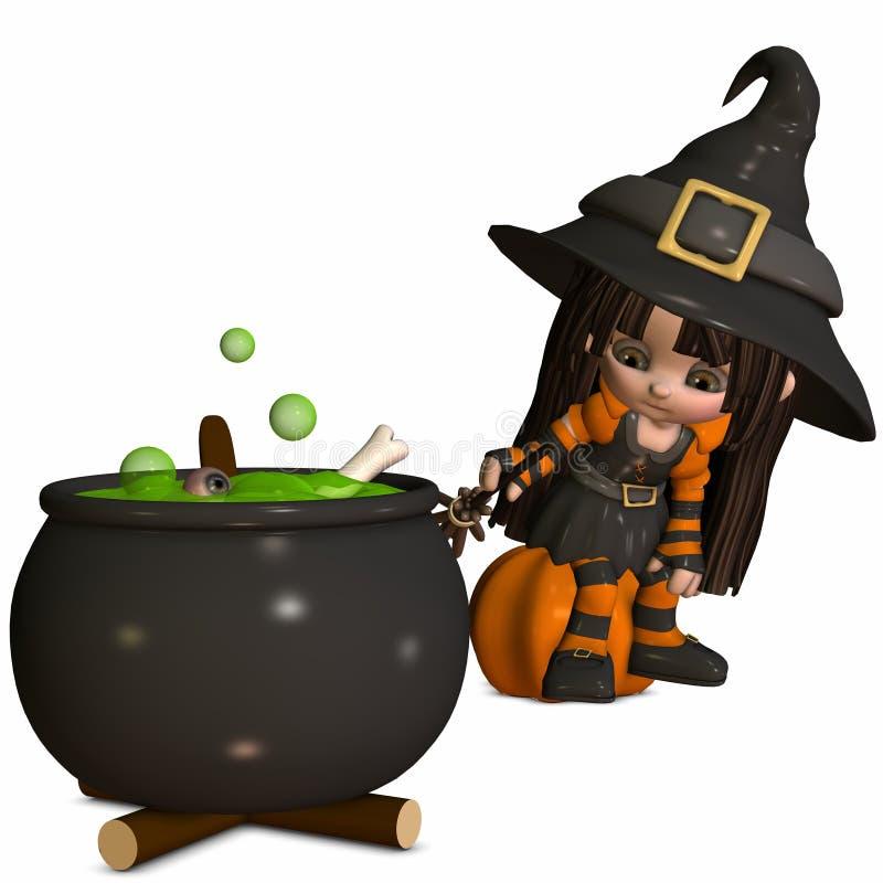маленькая ведьма иллюстрация штока
