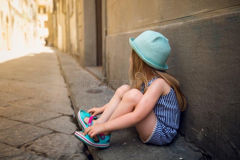 Маленькая девочка в Флоренсе стоковая фотография