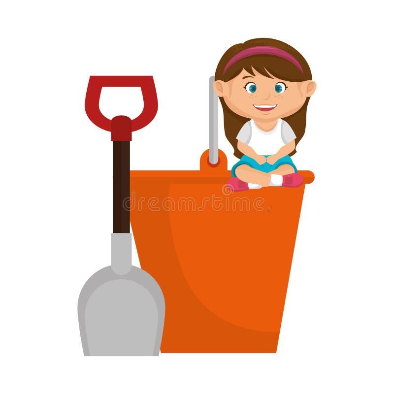 Маленькая девочка с игрушкой бесплатная иллюстрация