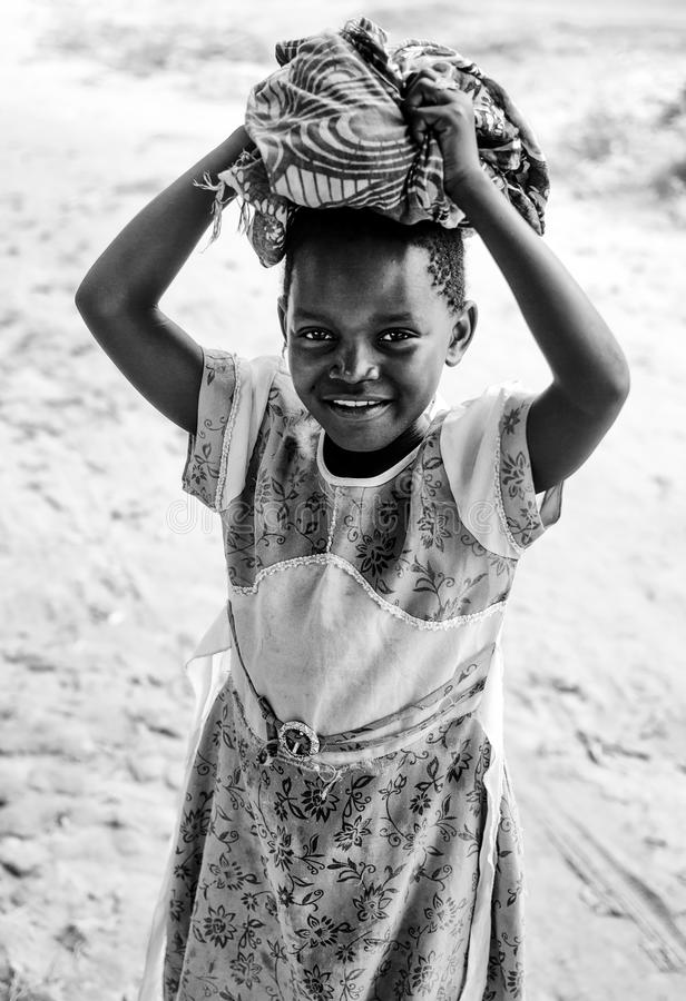 Маленькая девочка Танзании стоковое фото rf