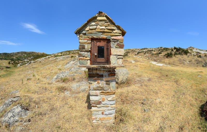 Маленькая модель церков на греческом острове стоковая фотография