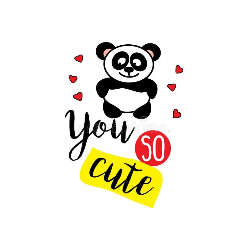 Маленькая панда и формулирует вас настолько милые, иллюстрация штока