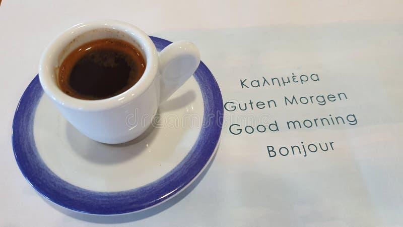 Маленькая чашка с черным кофе стоковое фото rf