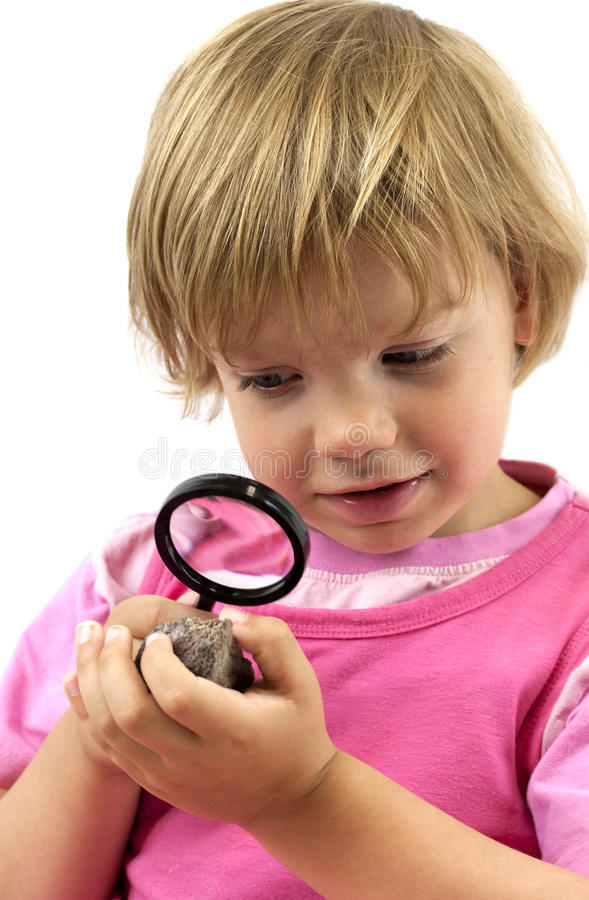 Маленький геолог стоковая фотография rf
