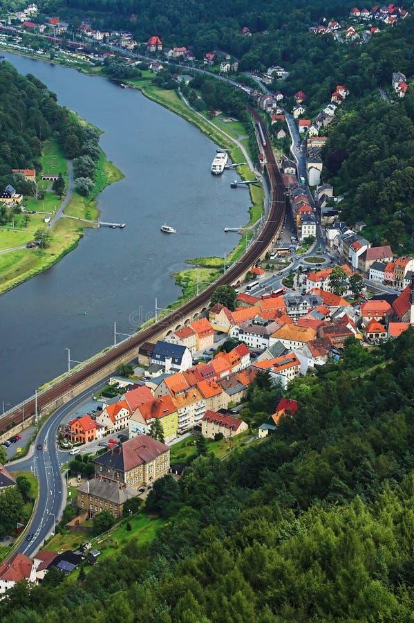 маленький город стоковая фотография rf
