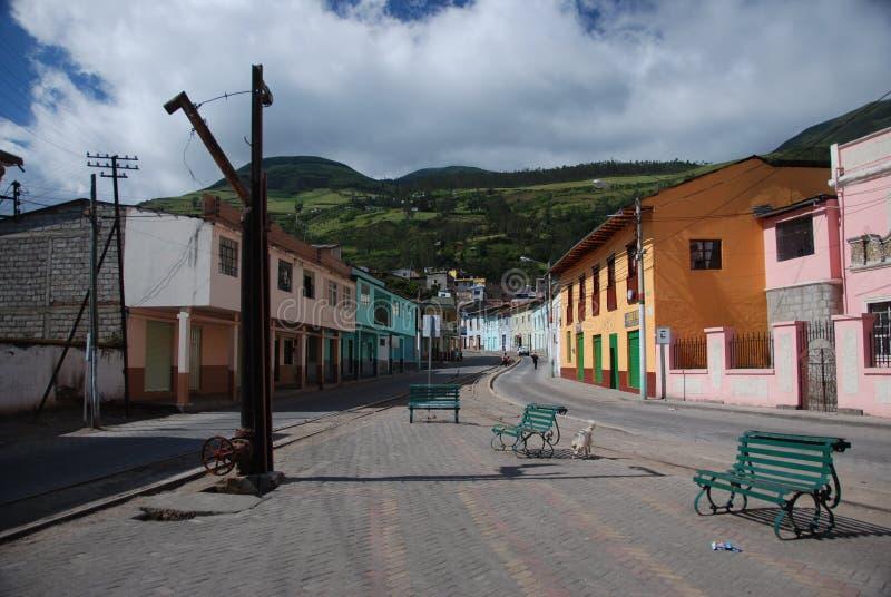 маленький город ecuadorian стоковое фото rf