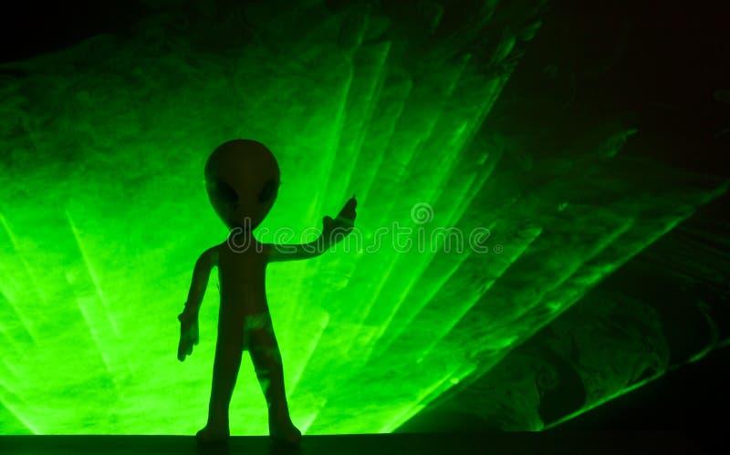 Маленький зеленый человек стоковое фото rf