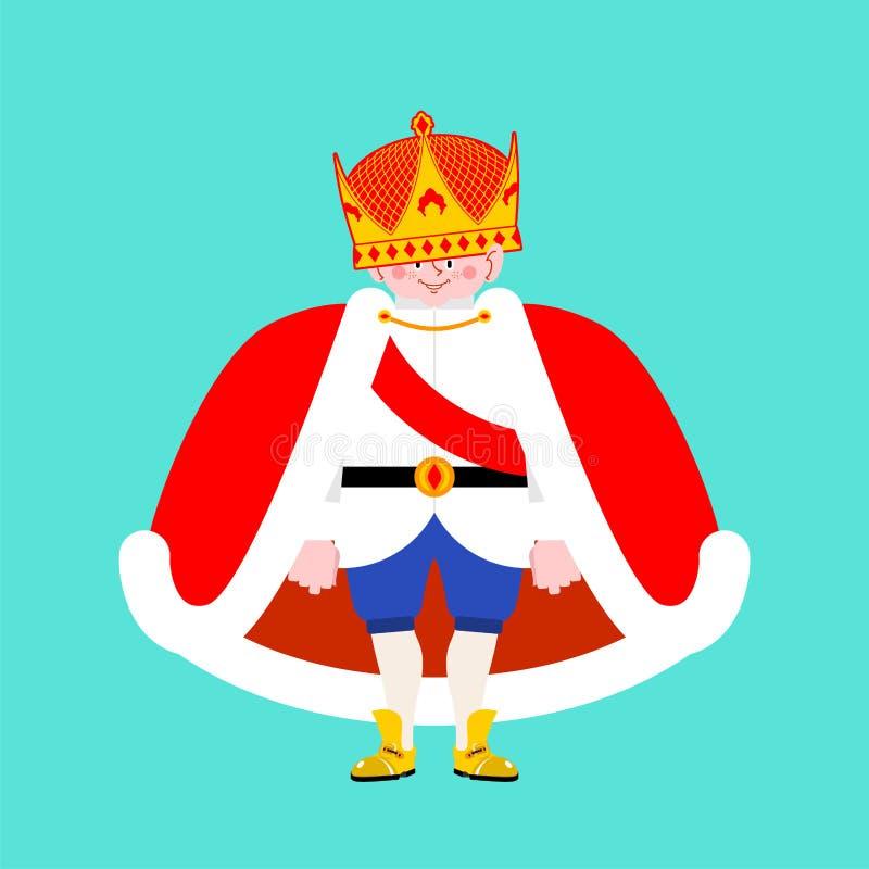 Маленький изолированный принц Мальчик в кроне Королевский сын Illustra вектора бесплатная иллюстрация